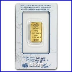 10 gram Gold Bar PAMP Suisse Lady Fortuna (In Assay) SKU #19044