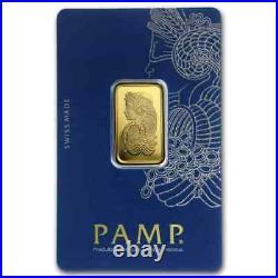 10 gram Gold Bar PAMP Suisse Lady Fortuna (In Assay) Suisse Bar