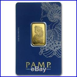 10 gram Gold Bar PAMP Suisse Lady Fortuna Veriscan (In Assay) SKU #82239