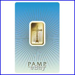 10 gram PAMP Suisse Gold Bar Romanesque Cross (in Assay). 9999 Fine