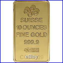10 oz. Gold Bar PAMP Suisse Fortuna 999.9 Fine in Sealed Assay