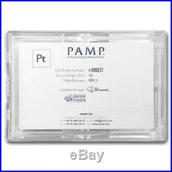10 oz PAMP Suisse Lady Fortuna Platinum Bar. 999+ Fine (In Assay)