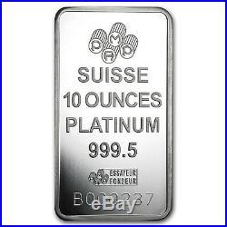 10 oz Platinum Bar PAMP Suisse (In Assay) SKU #53941