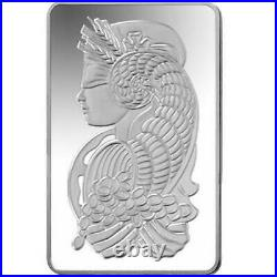 10 oz Silver Bar PAMP Suisse Fortuna. 999 Silver In Capsule withAssay