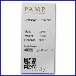 10 oz Silver Bar PAMP Suisse (Serialized) SKU#233637
