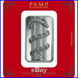 100 Gram PAMP Suisse Snake Silver Bar. 999 fine (New with Assay)