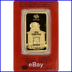 100 gram Gold Bar PAMP Suisse Lunar Year of the Dog 999.9 Fine in Assay