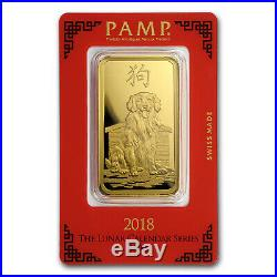 100 gram Gold Bar PAMP Suisse Year of the Dog (In Assay) SKU#154746