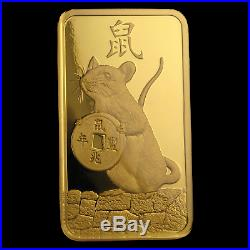 100 gram Gold Bar PAMP Suisse Year of the Rat (In Assay) SKU#198755
