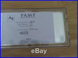 1000 Gram Pamp Suisse Silver Bar (Vintage, 1 kilo). 999 Fine