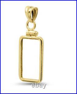 14K Gold Screw-Top Plain Bezel (5 gram Gold Bar) Pamp Suisse