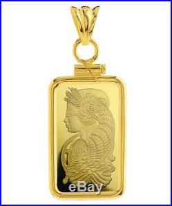 14K Gold Screw Top Plain Bezel Fits Pamp Suisse Fortuna 5 Gram Veriscan Bar
