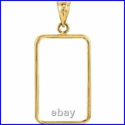 14k Gold 4 Prong Bezel frame for 20.0 gram Pamp Suisse Fortuna Gold Bar
