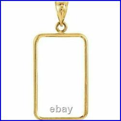 14k Solid Gold 4 Prong Bezel frame for 10 gram Pamp Suisse Fortuna Gold Bar