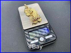 18K Gold Lady Fortuna PAMP SUISSE 33.81 Grams Bar Real Diamond. 40 Carts