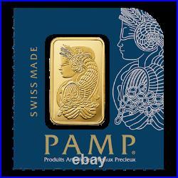 1g PAMP Suisse Lady Fortuna Assay Cert Gold Bar Bullion Multigram+25 Pack