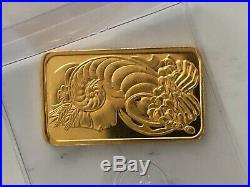 1oz Gold Pamp Bar Stunning Genuine Art Bar Perfect For Investment