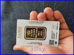 1oz PAMP SUISSE FORTUNA VERISCAN 999.9 FINE GOLD BAR NEW & SEALED