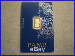 2.5 Gram. 9999 Gold Pamp Suisse Bar/ C055561