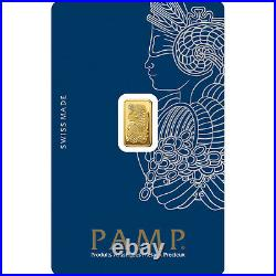 2.5 Gram Gold Pamp Suisse Lady Fortuna (In Assay). 9999 Pendant 22.8MM X 13.8MM