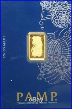 2.5 Gram Pamp Suisse Lady Fortuna Veriscan Gold Bar Ingot (with Assay) #c233869