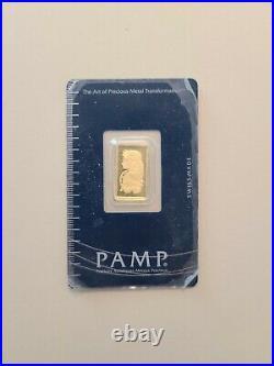 2.5 gram Gold Bar PAMP Suisse 999.9 Fine in Sealed Assay