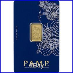 2.5 gram Gold Bar PAMP Suisse Fortuna 999.9 Fine in Sealed Assay