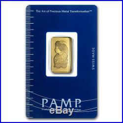2.5 gram Gold Bar PAMP Suisse Lady Fortuna (In Assay) SKU #19042