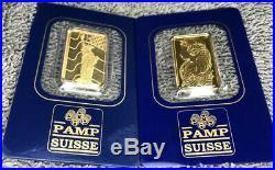 2-5 gram Gold Bars! PAMP Suisse Fortuna & Liberty 999.9 Fine in Sealed Assay