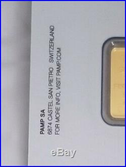 2.5 gram gold bar by PAMP Suisse