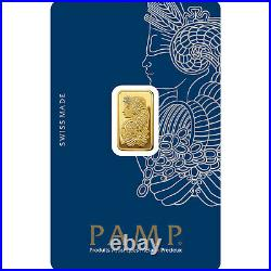 2.5g Gold bullion Pamp new, sealed with certificate
