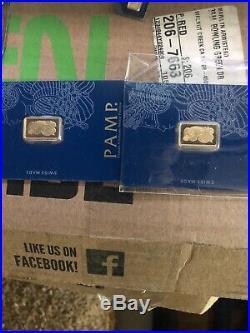 2 X 2.5 gram Gold Bar PAMP Suisse Lady Fortuna Veriscan. 9999 Fine (In Assay)