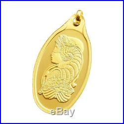 20 Gram Oval Gold Bar with PENDANT PAMP Fortuna