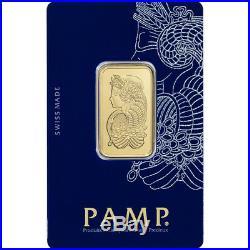20 gram Gold Bar PAMP Suisse Fortuna 999.9 Fine in Sealed Assay