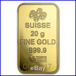 20 gram Gold Bar PAMP Suisse Fortuna Veriscan (In Assay) SKU #49374