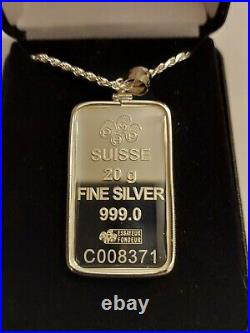 20 gram SILVER PAMP SUISSE FORTUNA NECKLACE WITH ASSAY
