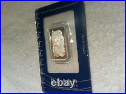 20 gram platinum bar in assay card. With serial number