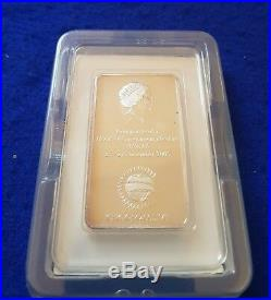 2005 Malta Lombard Bank Silver Ingot 100g CHOGM + COA + NUMBERED BOOKLET