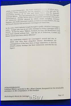 2007 Malta Lombard Bank Silver Ingot 100g Caravaggio + COA + NUMBERED BOOKLET