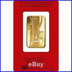 2014 Pamp Suisse Lunar Horse 5 Gram Gold Bars In Assay Card 999.9 Fine