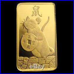 2020 5GRAM. 9999 GOLD YEAR of the RAT PAMP SUISSE SEALED BAR $314.88
