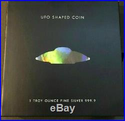 2020 Pamp Suisse Alien Ufo Shaped Coin 9999 Silver Hologram $119.88