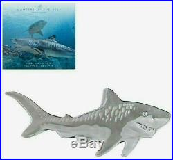 2020 Pamp Suisse Tiger Shark Shaped Coin 9999 Silver Capsule $118.88