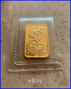 24K Pure Gold Pamp Suisse Half Ounce Gram Fine Gold Bar With Certificate