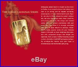 (25) 2014 Pamp Suisse Lunar Horse 5 Gram Gold Bars In Assay Card 999.9 Fine