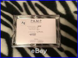 250 Grams. 999 Silver PAMP Suisse Fortuna Bar. Capsule + Assay Included