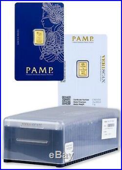 25x PAMP Suisse Fortuna 1g (Gram) Fine Gold Bullion Bars 999.9 NEW & SEALED