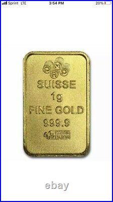 25x1 gram Gold Bar PAMP Suisse Multigram+25 (In Assay) SKU #80382