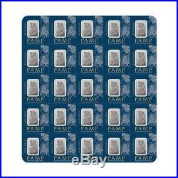 25x1 gram Platinum Bar PAMP Suisse Fortuna Multigram+25 (In Assay)