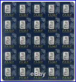 25x1 gram Platinum Bar PAMP Suisse Fortuna Multigram+25 (In Assay) With Veriscan